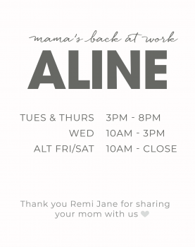 ALINE IS BACK !